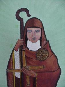 Contemporary image of St Brigid