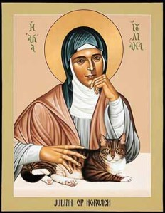 Icon of Julian of Norwich (and cat!)