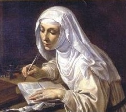 Catherine of Siena writing