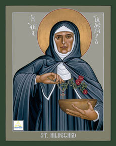 Icon of Hildegard of Bingen by Robert Lentz, OFM