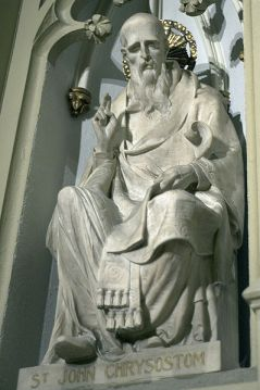 Statue of Chrysostom in St. Patrick's Cathedral