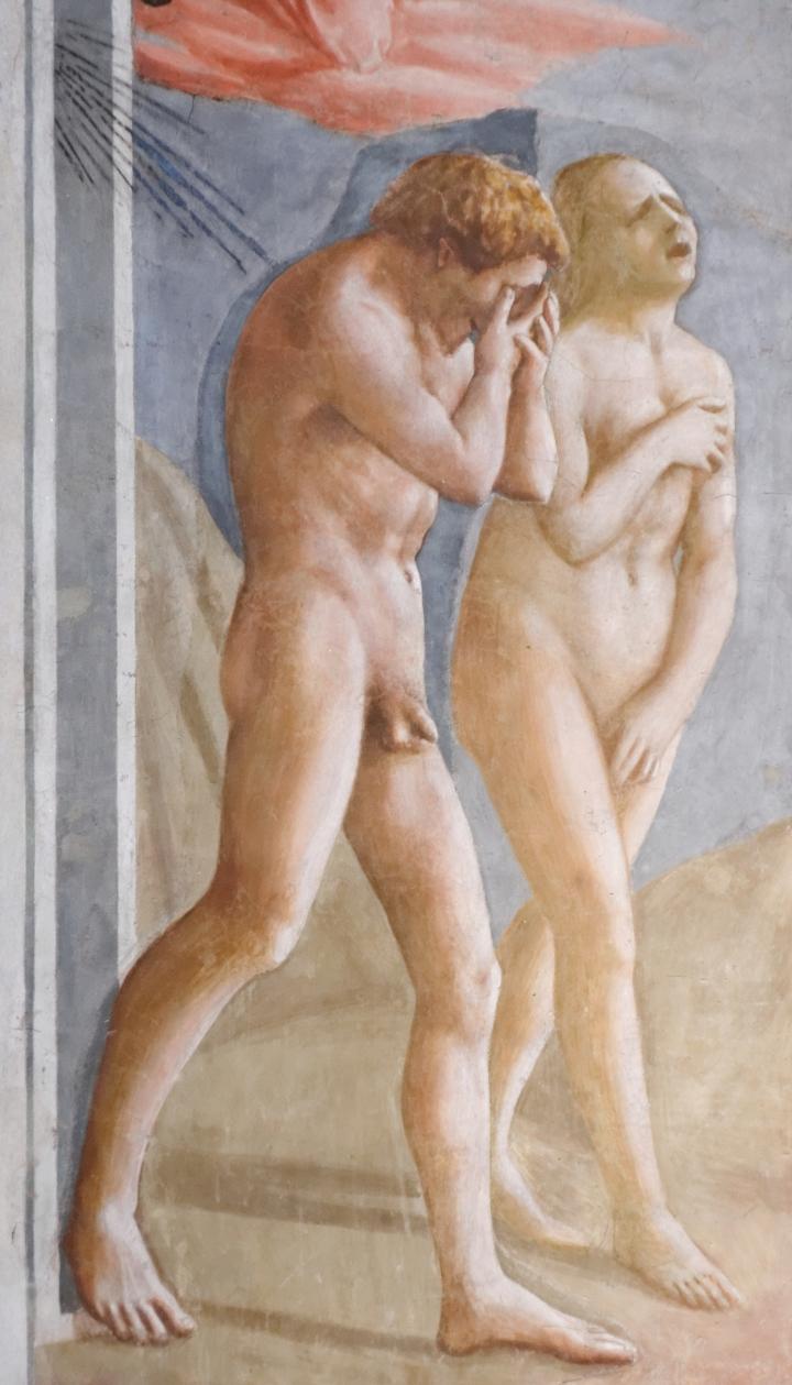 """""""Expulsion from the Garden of Eden,"""" Masaccio, 1425"""