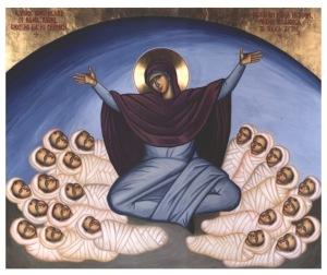 Rachel weeping for her children (Jeremiah 31:15)
