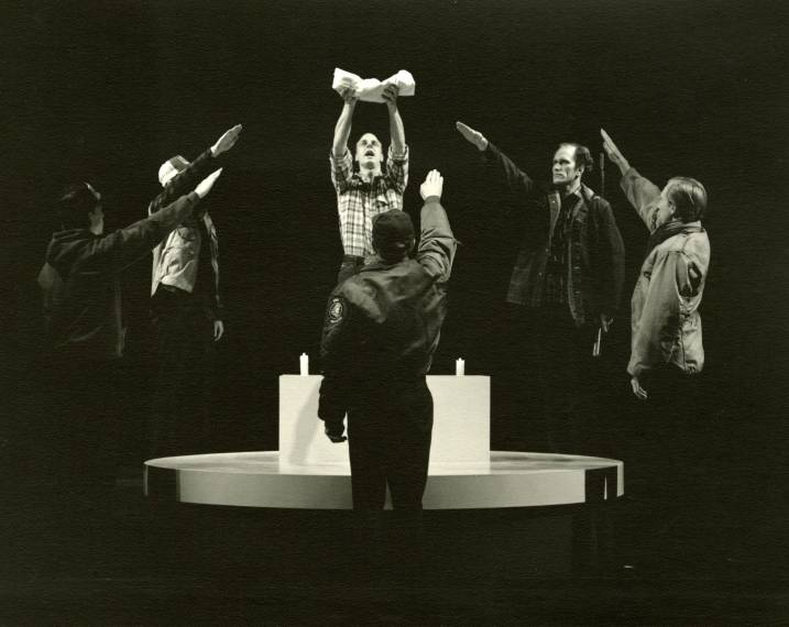 God's Country(1990): Ensemble. Photo: Christopher Briscoe, Oregon Shakespeare Festival.