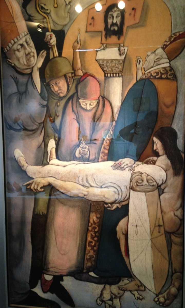 A painting of Romero's death that hangs in the museum at the University of Central America in San Salvador.